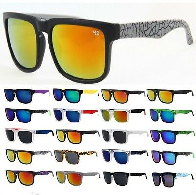 New Unisex Fashion Outdoor Sport Retro Block Cycling Helm Sunglasses Aviator