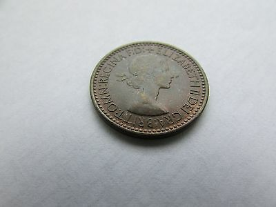 1953 Farthing Coin, Coronation Year   Uk Delivery Only