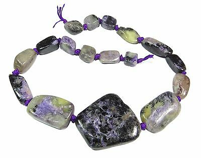 Charoit Nuggets graduated Size Gemstone-Beads Cord CHAR-3