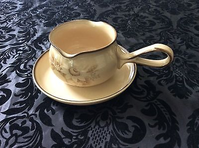 Handcrafted Denby Images Gravy/ Sauce Boat And Saucer.