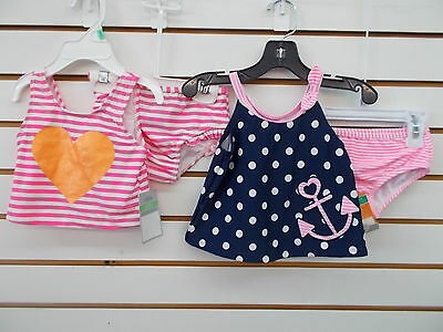 Infant Girls Carter's 2pc Pink or Navy Swimsuits Size 18 Months
