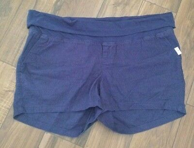 NWT Old Navy Maternity Navy Linen Shorts Size Large