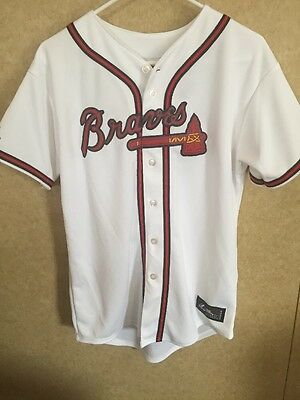 New Majestic Atlanta Braves Jersey Authentic Youth XL