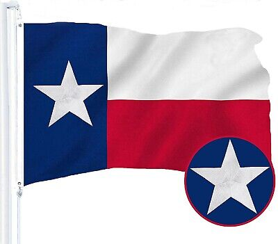 G128 – Texas State Flag| 3x5 ft | Embroidered Star| Brass Grommets
