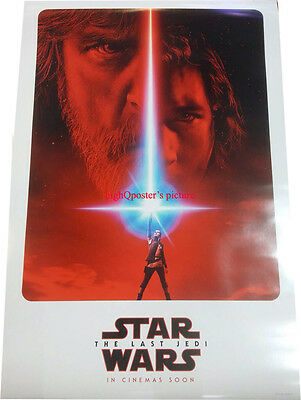 ORIGINAL Star Wars The Last Jedi Official INT'L 27x40 DS POSTER + Rogue One