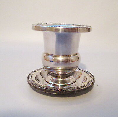 Sterling Silver Toothpick Urn + Under Plate Hunt Silver Company Hallmarked USA