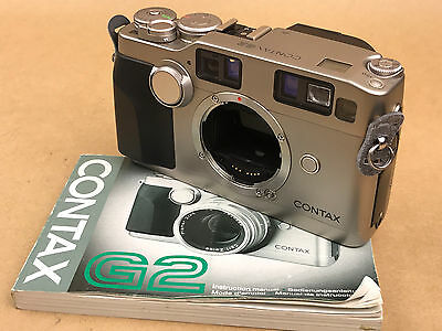 Contax G2 35mm Rangefinder Film Camera Body With manual - Nice & Works
