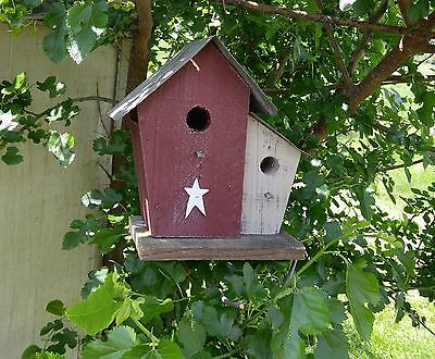 DOUBLE HOUSE BIRDHOUSE  Amish handmade. Reclaimed materials.
