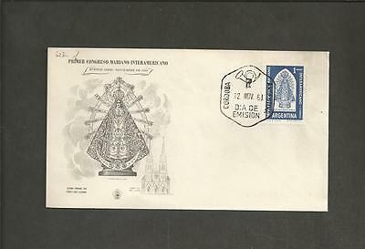 ARGENTINA -1960 The 1st Anniversary of the Inter-American Marian Congress  - FDC