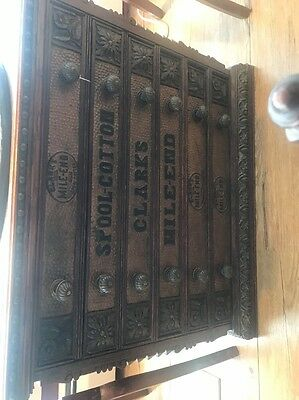 Incredible Antique Oak Spool Cabinet Clarks Mile-end