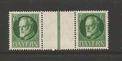 Bavaria .Bayern Germany stamps.1919-20 MNH  GUTTER PAIR