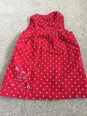 Baby Girls Red Lined Dress 9-12 Months