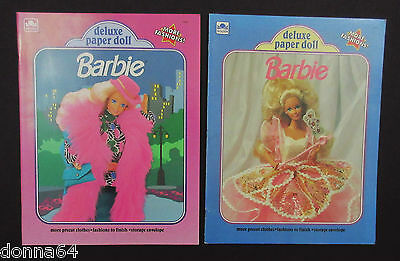 Barbie Deluxe Paper Doll Books from 1991 Uncut Unpunched Mattel Golden Books