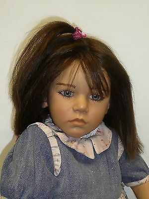 """Pre-owned Annette Himstedt 30"""" Friederika Doll from 1987 w/COA & Box, Box As Is"""