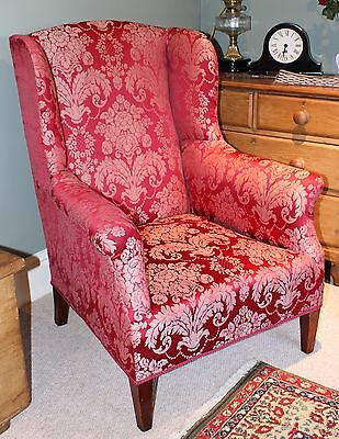 Antique 19th Century Wing Back Chair