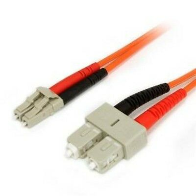 NEW STARTECH FIBLCSC10 10M MULTIMODE FIBER PATCH CABLE LC - SC....b.