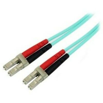 NEW STARTECH A50FBLCLC3 3M AQUA MM 50 LC TO LC FIBER PATCH CABLE....b.