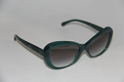 b7b6c43231 New Chanel 5246 C 1269 s3 Green Round Frame Authentic Sunglasses 57-17