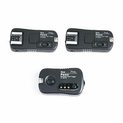 UK ! Pixel Pawn TF-361 Wireless Remote Flash Trigger +2 Receivers set for Canon