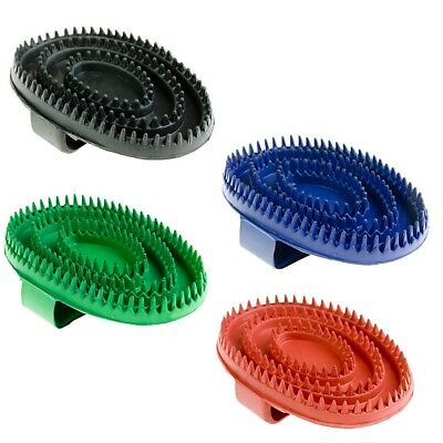Rubber curry comb Brush to the Removal of loose Coat hair with Horse Cat Dog