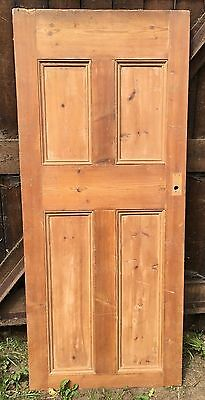 Reclaimed four panel internal solid wood beaded door