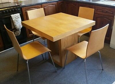 table and 4 julian bowen chairs