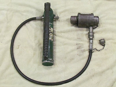 Greenlee Industrial Hand Tool Knockout Hydraulic Punch Set 767 Pump 746 Ram #2
