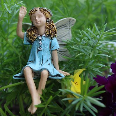 Miniature Dollhouse Fairy Garden Fairy Penelope Waving To Friends  Figurine 0134