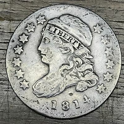 1814 Capped Bust Silver Dime - Small Date - Very Fine - Tough Variety!!!