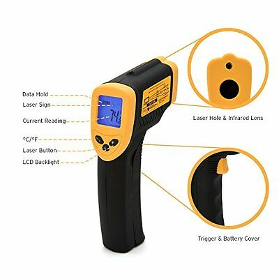 Etekcity Lasergrip 774 Non-contact Digital Laser Infrared Thermometer Temp..