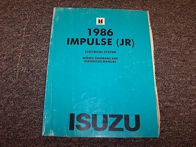 1986 isuzu impulse sports coupe electrical system wiring diagram manual  turbo