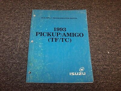 1993 isuzu pup p'up pickup truck & amigo suv electrical wiring diagrams  manual