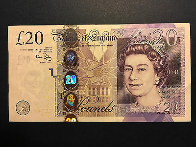 Bank of England 20 pounds 2006 FIRST SIGN. BAILEY, Crisp XF Banknote
