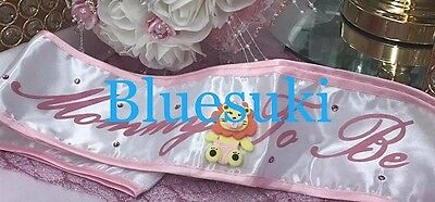 Mommy to Be Pink Sash Baby Shower with Jungle Animal Keepsake Choose Item