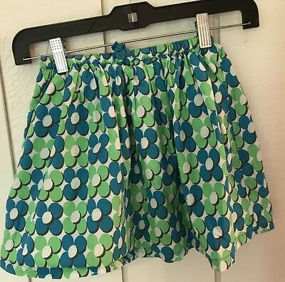 Mini Boden Girls Size 5 6 7 8 Multi Color Floral Twirly Skirt