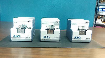 Lot of 3 NSB Quicher Screw Feeders with SR17 Rail