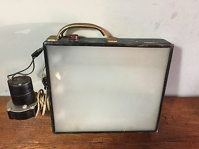 Vintage Electric Architect Engineer Drafting  Shadow Box W/Electric Blower