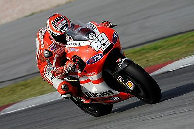 Nicky Hayden - Ducati 2011 - A1/A2/A3/A4 Photo/Poster Print