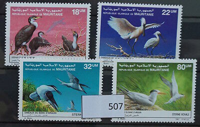 S0 0507 Birds Oiseau Birds Mauritania MNH 1987 Set of 4