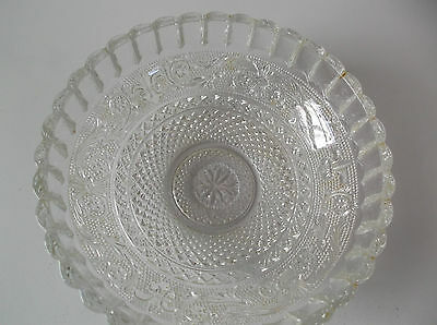 Antique Clear Glass Bowl