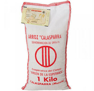 2kg Calasparra Rice : Great Paella Rice : 2 x 1kg Cloth Bags