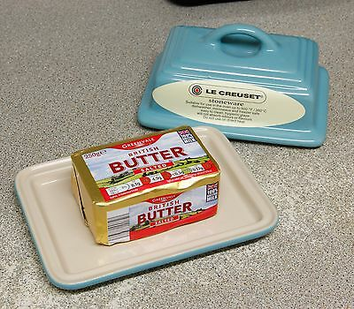 Large Le Creuset Butter Dish Stoneware It Actually Fits a Pack of Butter