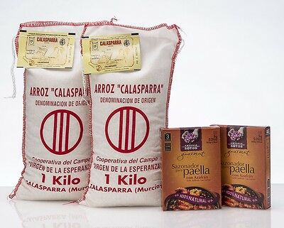 Paella Rice 'n' Spice Deal : 2kg Calasparra Rice + 2 Packs Paella Spice