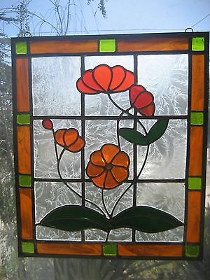 Antique Vintage Old Leaded Stained Glass Window