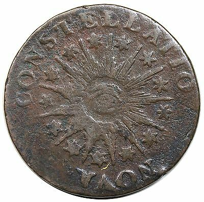 1785 Nova Constellatio Copper, Pointed Rays, Crosby 3-B, F-VF detail