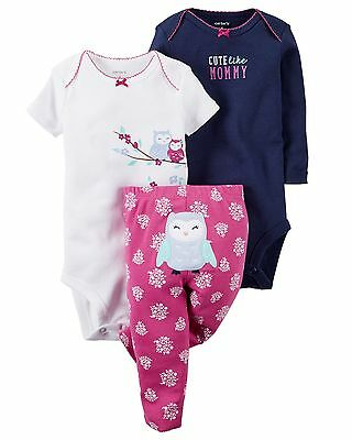 NWT Carter's baby girl 3-piece set 6M