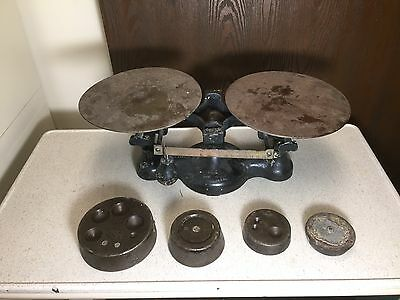 Vintage Cast Iron JACOBS BROTHERS DETECTO NO 2 Balance Scale NEW YORK Mercantile