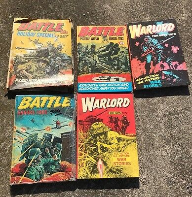 Collection 1970s 1980s Annuals Battle Warlord Fleetway Hardcover Cartoons