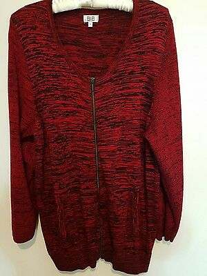 Ladies red zip BIB jacket Size S/16/18 Excellent condition