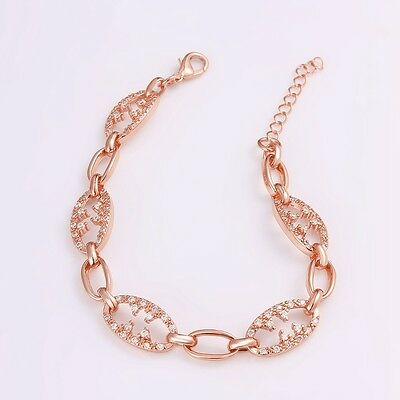 Charms 18K Rose Gold Plated Cubic Zirconia Bracelet Fashion Jewelry For Women